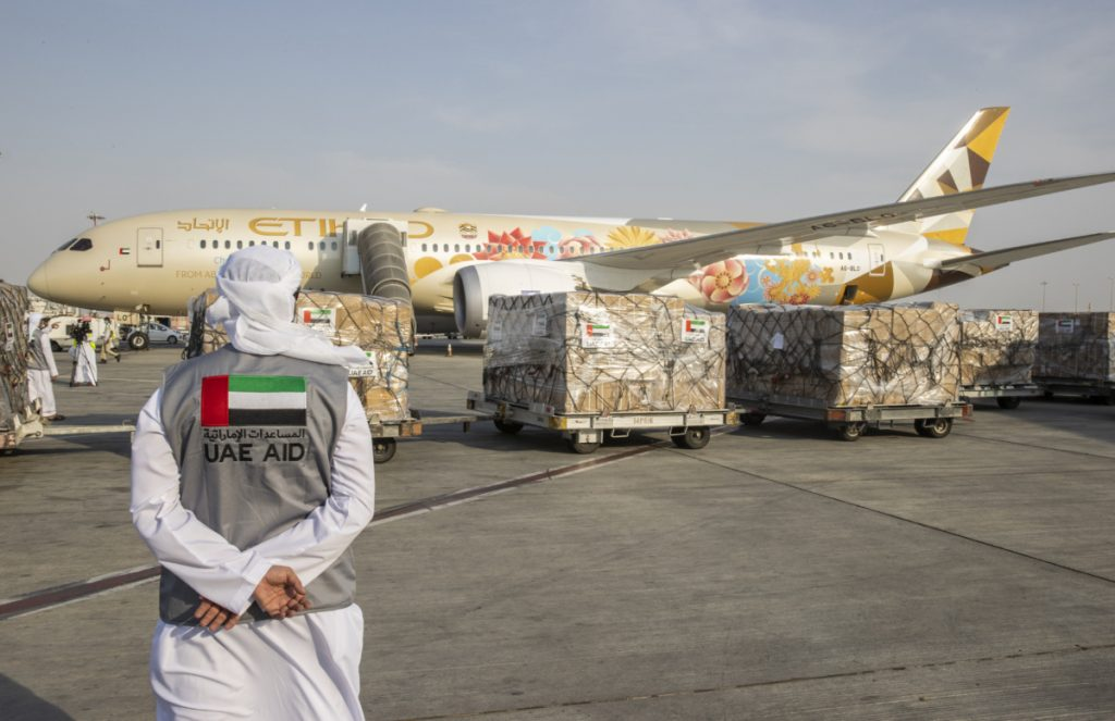 had Airways, Air France, and the EU also flew aid flights to Beirut in the weeks following the disaster. Photo: Etihad