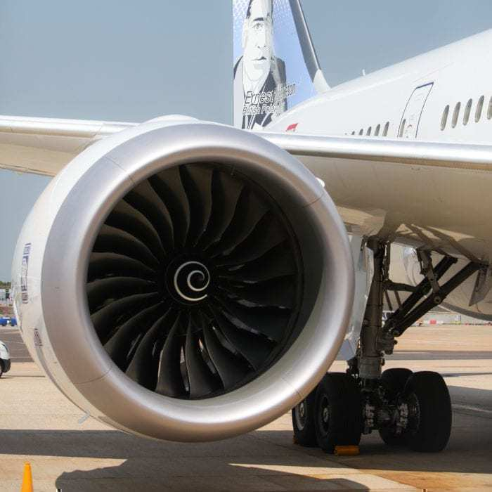 Rolls-Royce Aircrafts engine on a Boeing 787