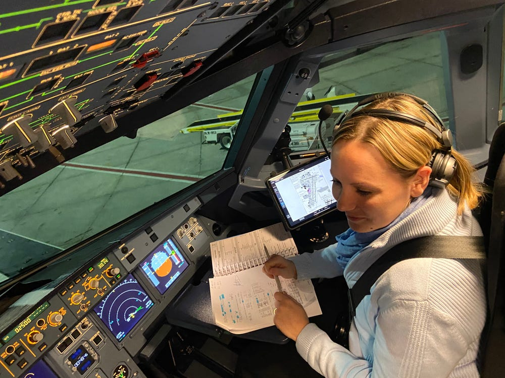 Women still only make up 5% of commercial pilots worldwide. Here's what a typical day looks like for one female pilot.