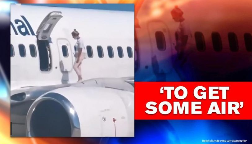 Woman Takes A Walk On Aircraft's Wings To Get 'some Air' Ukraine news
