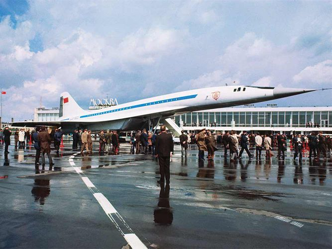 Russia'S Supersonic Airliner The Soviet Tupolev Tu-144.Bettman